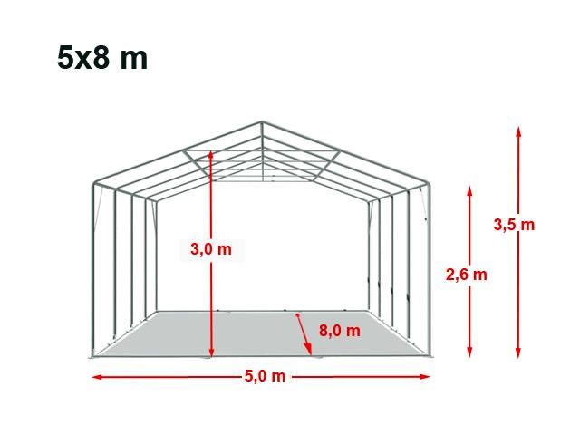 Location de barnum 4x3 | dimensions