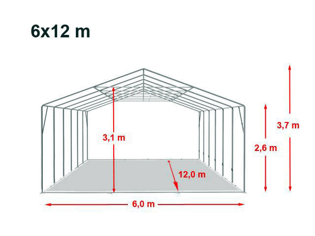 Location de barnum 4x3 | dimensions